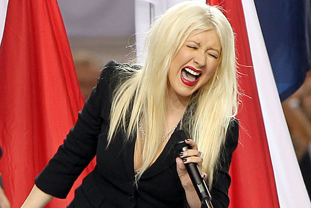 Christina Aguilera Singing Super Bowl