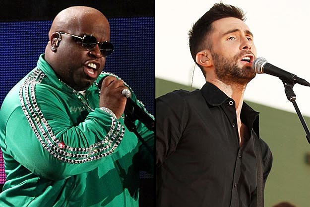 Cee-Lo Green and Adam Levine of Maroon 5