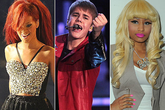 Rihanna Justin Bieber Nicki Minaj