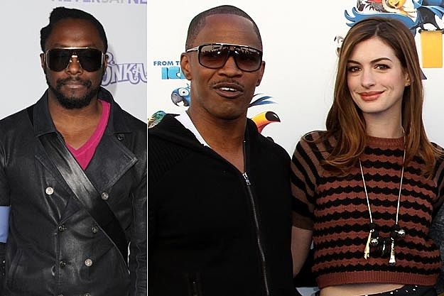 William Jamie Foxx Anne Hathaway