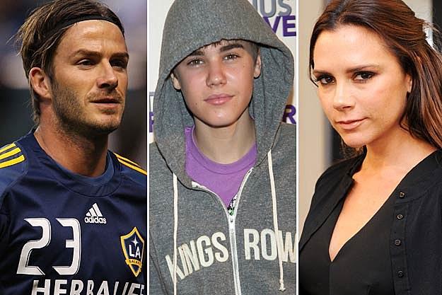 David Beckham / Justin Bieber / Victoria Beckham