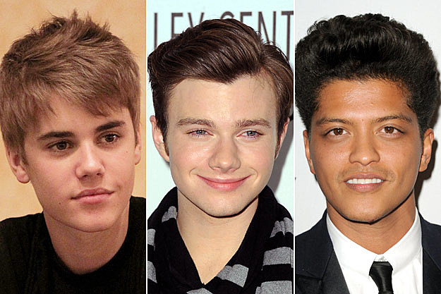 Justin Bieber Chris Colfer Bruno Mars Time 100 Most Influential People