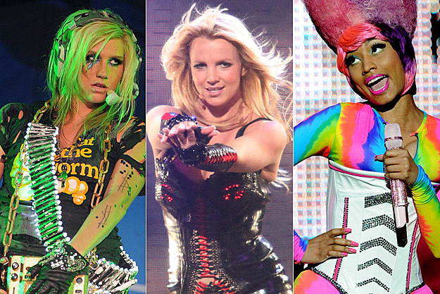 Kesha, Britney Spears, Nicki Minaj
