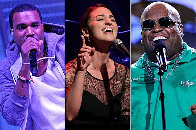Kanye West, Sara Bareilles, Cee Lo Green