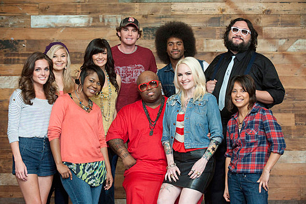 Cee Lo Green and His 'The Voice' Team