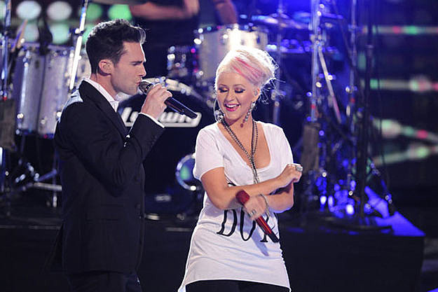 Adam Levine Christina Aguilera