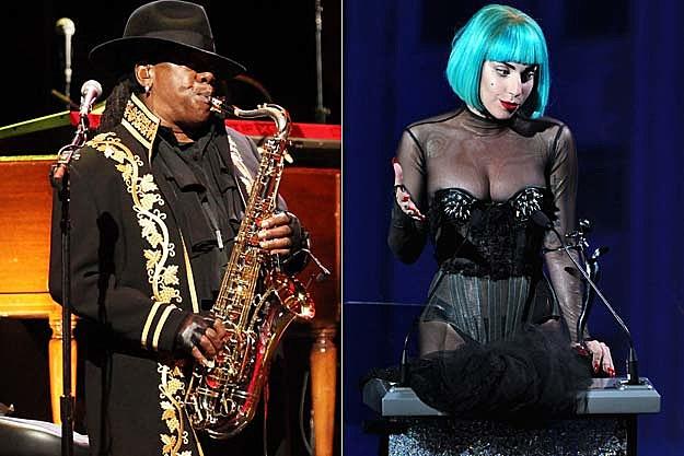 Clarence Clemons Lady Gaga
