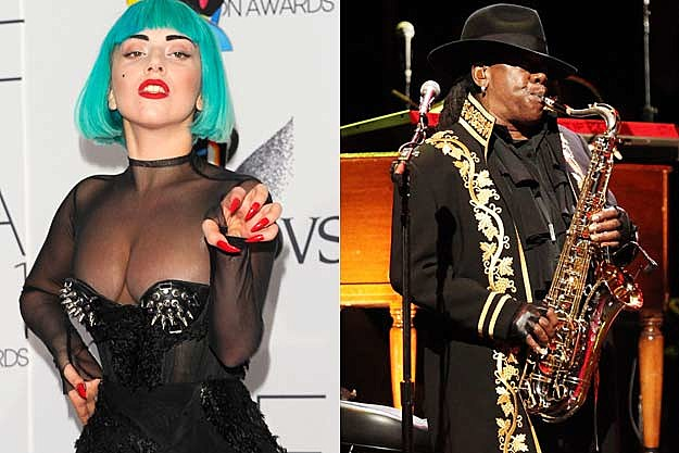 Lady Gaga Clarence Clemons
