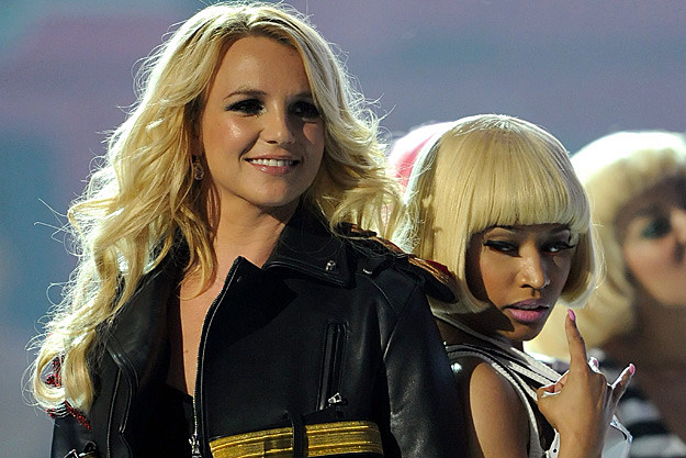 Britney Spears Nicki Minaj Butting Heads on Femme Fatale Tour