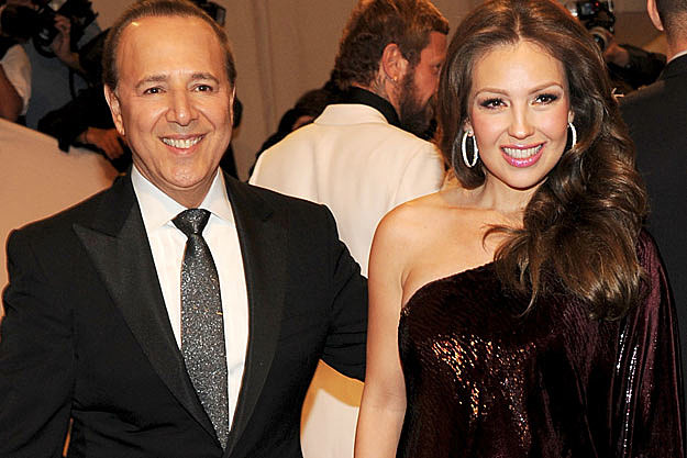 Mexican Singer Thalia and Record Exec Tommy Mottola ...