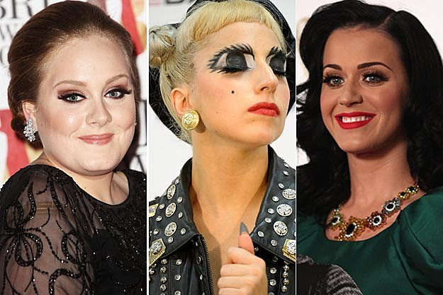 Adele Lady Gaga Katy Perry