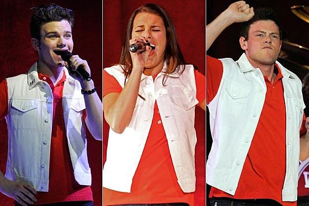 Chris Colfer, Lea Michele, Cory Monteith