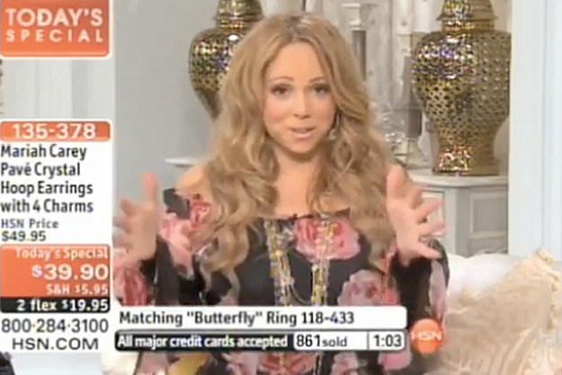 Mariah Carey HSN Appearance