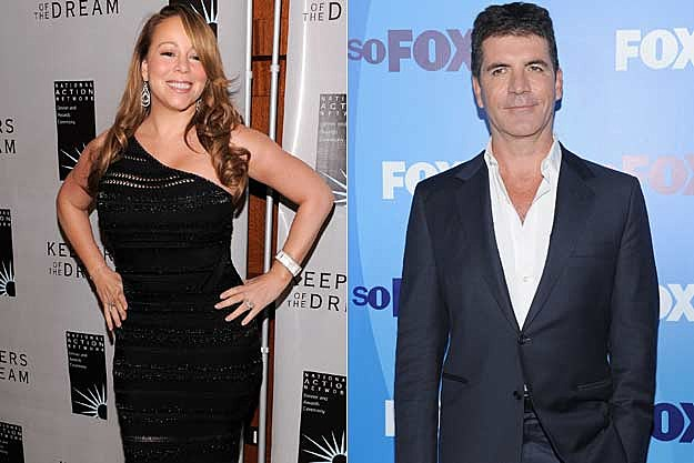 Mariah Carey / Simon Cowell, Getty Images