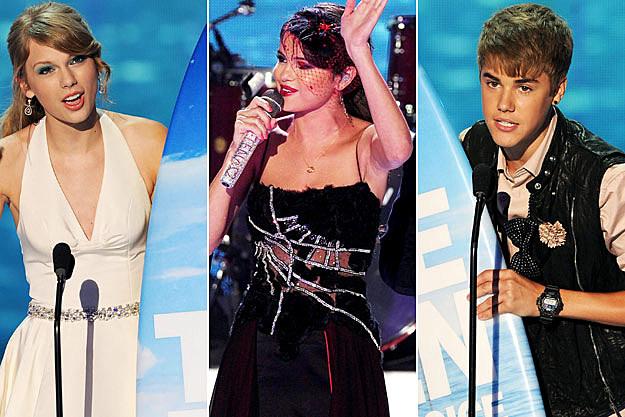 Taylor Swift Selena Gomez Justin Bieber 2011 Teen Choice Awards