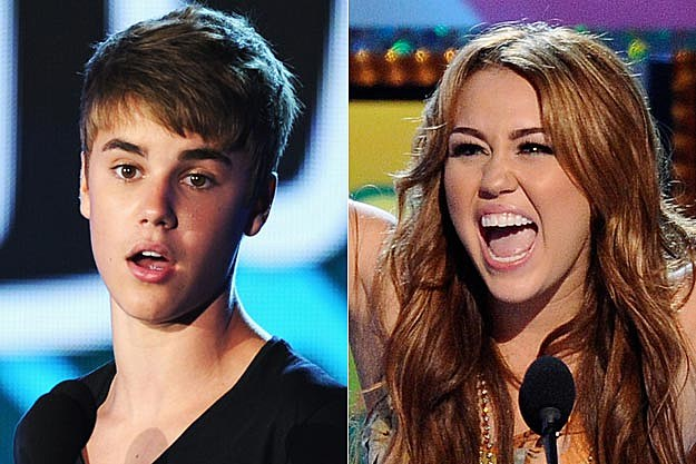Justin Bieber, Miley Cyrus