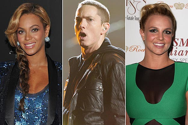 Beyonce Eminem Britney Spears