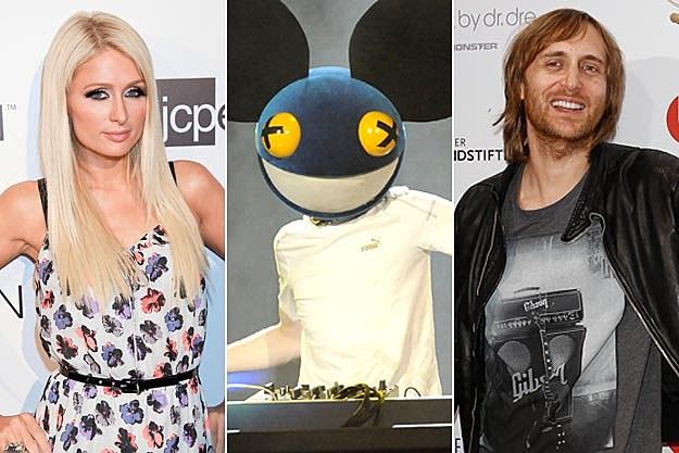Paris Hilton deadmau5 David Guetta