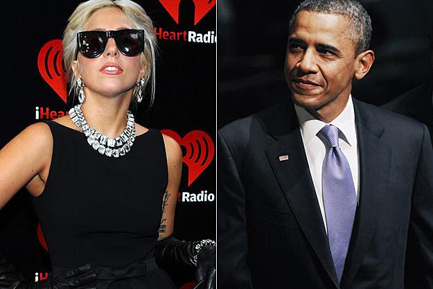 Lady Gaga President Obama