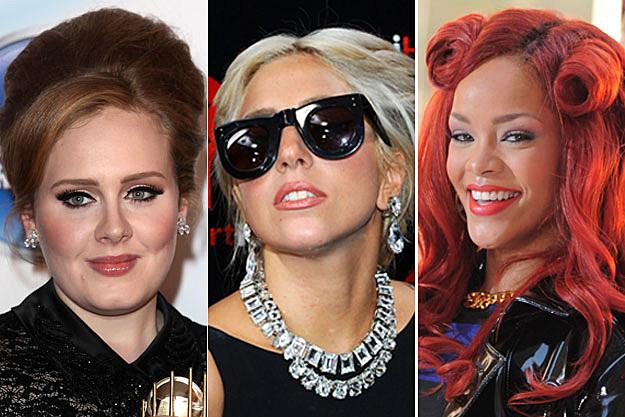 Adele Lady Gaga Rihanna