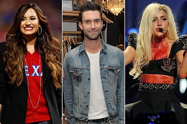 Demi Lovato Maroon 5 Lady Gaga