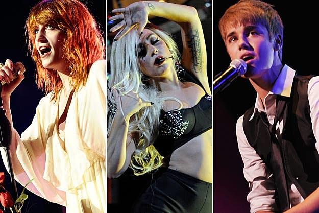 Florence Welch Lady Gaga Justin Bieber