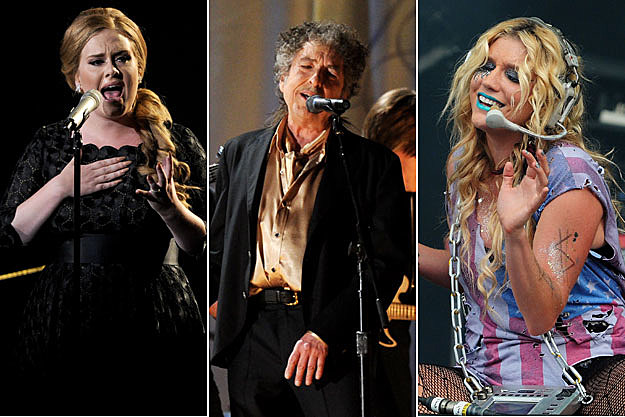 Adele, Bob Dylan, and Ke$ha