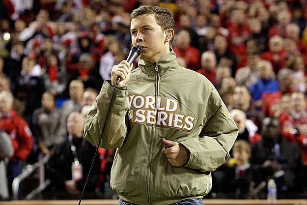 Scotty McCreery Sings National Anthem at World Series