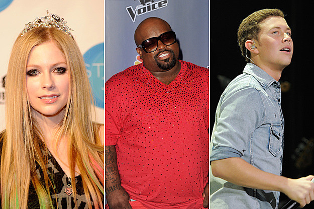 Avril Lavigne, Cee Lo Green, Scotty McCreery
