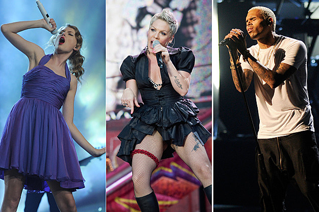 Taylor Swift, Pink, Chris Brown