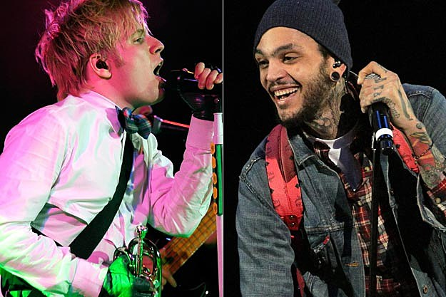 Patrick Stump Travie McCoy of Gym Class Heroes