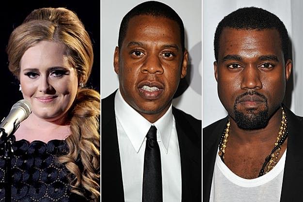 Adele Jay-Z Kanye West
