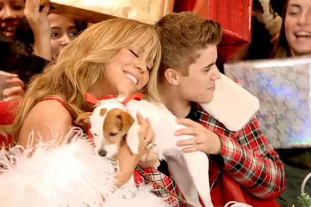 Mariah Carey + Justin Bieber Celebrate Christmas at Macy's in 'All ...