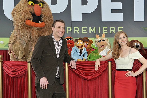 Jason Segel, Amy Adams, and the Muppets