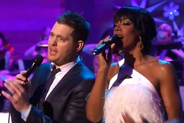 Michael Buble and Kelly Rowland