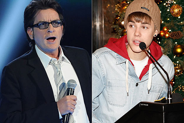 Charlie Sheen Justin Bieber
