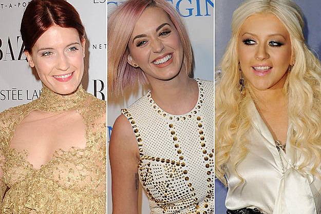 Florence Welch Katy Perry Christina Aguilera