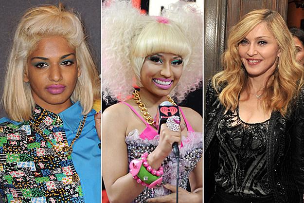 M.I.A., Nicki Minaj, Madonna