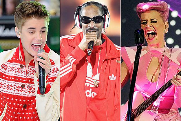 Justin Bieber, Snoop Dogg, Katy Perry