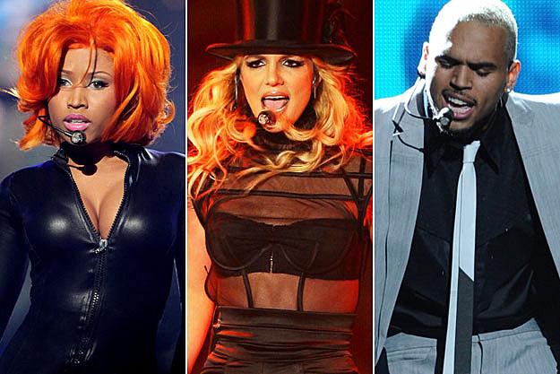 Nicki Minaj Britney Spears Chris Brown