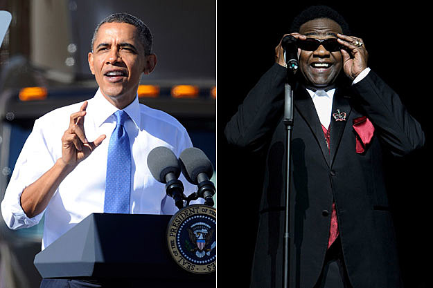 Barack Obama and Al Green