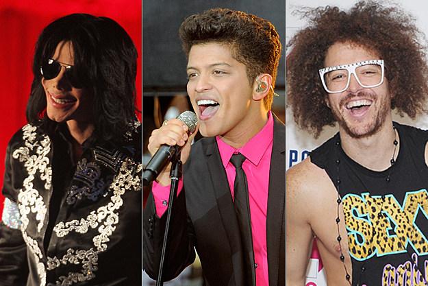 Michael Jackson, Bruno Mars, LMFAO