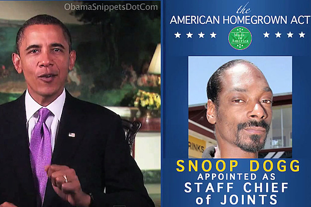 President Obama Snoop Dogg