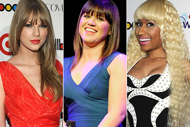 Taylor Swift Kelly Clarkson Nicki Minaj