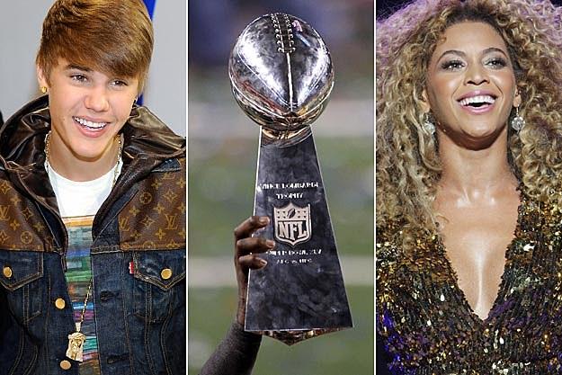 Justin Bieber Vince Lombardi Trophy Beyonce