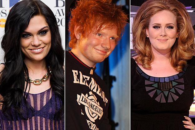 Jessie J Ed Ed Sheeran Adele