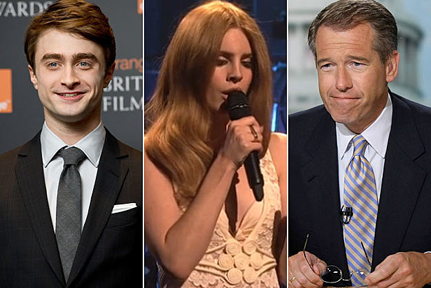 Daniel Radcliffe Lana Del Rey Brian Williams