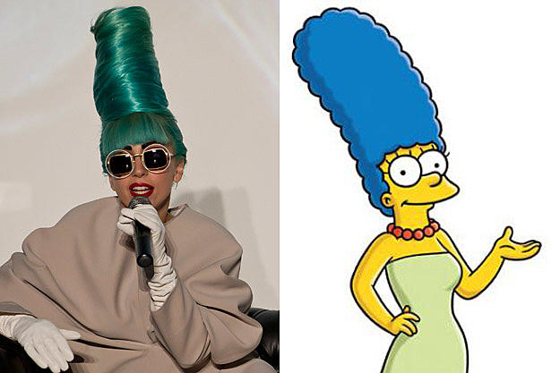 Lady Gaga Looks Like Marge Simpson