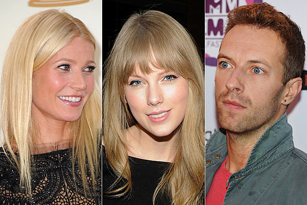 Gwyneth Paltrow, Taylor Swift, Chris Martin