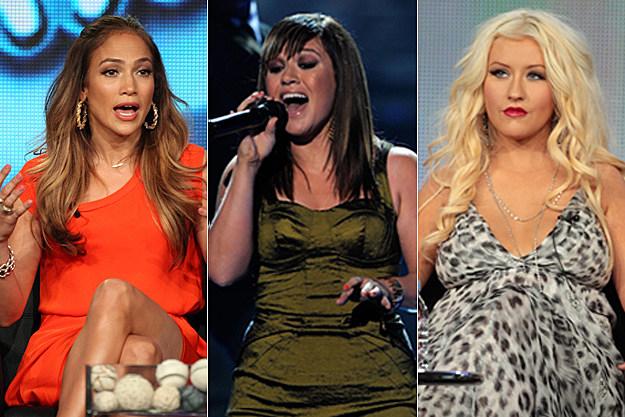 Jennifer Lopez, Kelly Clarkson, Christina Aguilera